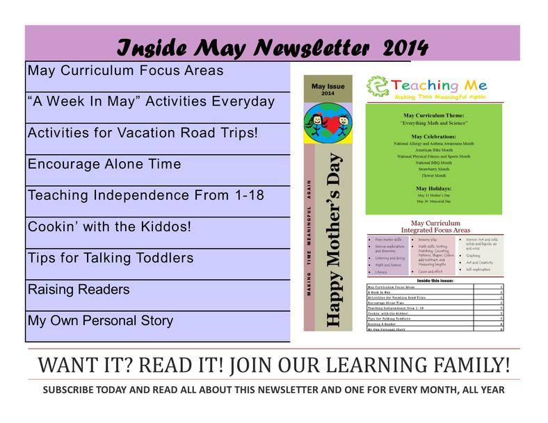 Engaging child activities, and parent tips and information in our monthly newsletter. Learning at home!
